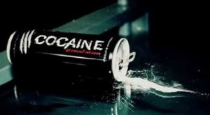 Can with cocaine spilling out