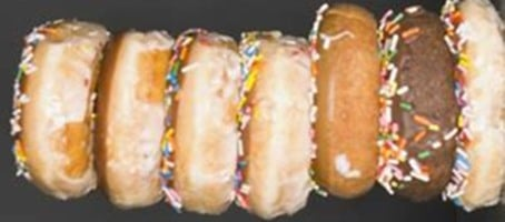 Pile of doughnuts